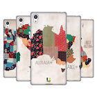 HEAD CASE DESIGNS PATTERNED MAPS SOFT GEL CASE FOR SONY PHONES 2
