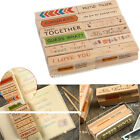 Love Phrase Wooden Rubber Stamp Made Card Letter Gifts Scrapbooking Decorating