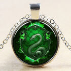 New Retro Green Snake Pattern Pendant Necklace For Women Jewelry Chain Decor MA