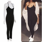 Women Causal Trousers Sexy Cotton Sleeveless Spaghetti Straps Jumpsuit Romper