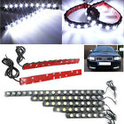 2x 6/8/10/12/18 LEDS Flexible Strip Daytime Running Light DRL Car Fog Lamp 12V