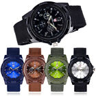 Mens Womens Solider Military Sport Army Canvas Band Quartz Wrist Watch image