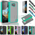 Heavy Duty Rugged Hybrid Hard Case Cover For Microsoft Nokia Lumia 550+ Free LCD