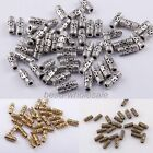 50pcs New ArriveRetro Style Tibetan Silver Column Tube Spacer Beads For Jewelry