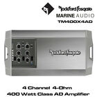 Rockford Fosgate TM400X4ad - 4-Channel Marine Amplifier Class-AD 400 Watts Amp