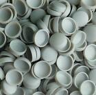 SMALL - MED- LARGE ALUMINIUM GREY SNAP ON DOME SCREW COVER CAPS WITH WASHER