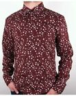 Peter Werth - Rey Long Sleeved Floral Pattern Shirt in Burgundy - 100% Cotton