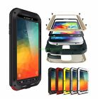 Waterproof Shockproof Metal Gorilla Glass Case Cover for Samsung Galaxy Models