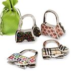 BMC 4pc Theme Designed Shoulder Handbag Folding Purse Holder Hangers Hooks Set