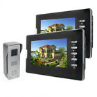 "7"" Video Camera Doorbell Doorphone Intercom Home Security System AC 100-240V New"