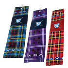 Scottish Golf Towel - Tartan Saltire - Choice Of Tartans - Great Golf Gift!