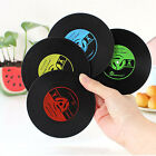 New Table Cup Mat Decor Coffee Drink Placemat Vinyl CD Record Drinks Coasters