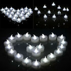 White Led Tea Light Flameless Battery Candles Wedding Party Romantic