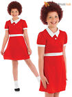 Girls Little Orphan Annie Fancy Dress Costume Childs Musical Book Week Outfit