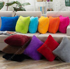 12 plain color modern comfy plush cushion pillow cover case bed sofa home gift i