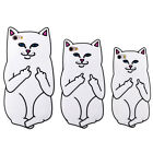3D Cartoon Rock Cute White Cat Soft Silicone Case For iPhone Samsung Galaxy New