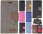 For Kyocera Hydro Air C6745 Premium Fleek 2 Tone Wallet Flip Case Cover