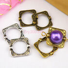 25Pcs Tibetan Silver,Antiqued Gold,Broze Square Bead Frame Jewelry DIY M1160