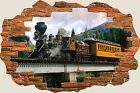 3D Hole in Wall Eureka Train View Wall Stickers Film Mural Art Decal 160