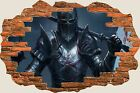 3D Hole in Wall Fantasy Knight View Wall Stickers Film Decal Wallpaper Mural 717