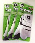 3 New in Package Footjoy WeatherSof Golf Gloves RH, Multiple Sizes, For Lefties