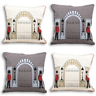 Paoletti Royal Guard Embroidered Piped Cushion Cover