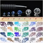 (32 Facets) Round Faceted Crystal Glass Loose Beads 3mm/4mm/6mm/8mm/10mm/12mm
