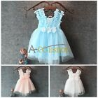 Flower Princess Baby Girl Kid's Spaghetti Strap Floral TUTU Party Wedding Dress