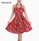 Dolly and Dotty CYNTHIA Vintage Dress ~ Red Flowers Floral All Sizes