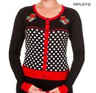BANNED Strawberry Red ~ PARADISE CITY Cardigan Polka Dot All Sizes