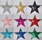 FABRIC GLITTER 102mm 4inch STAR IRON-ON HOTFIX DIY CRAFT TSHIRT TRANSFER PATCH