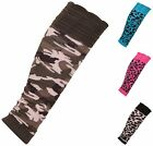 Womens Army Animal Leopard Pattern Ladies Knit Ruched Footless Socks Leg Warmers