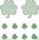 2 Large + 8x 1 Inch Shamrock iron on Rhinestone Transfer crystal tshirt applique