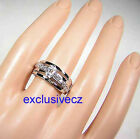 Spring Special~~0.6 Carat White Gold Plated Right Hand CZ Band Ring Size 8