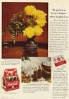 1940 Chrysanthemuns Coca-Cola Coke Six Bottle Carton Ad : Vintage Advertising
