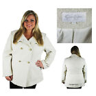 Jessica Simpson Womens Double Breasted Tweed Winter Peacoat Plus Size