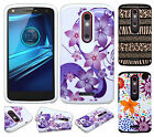 For Motorola Droid Turbo 2 HARD Hybrid Rubber Silicone Case Phone Cover