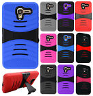 For Kyocera Hydro View Hard Gel Rubber KICKSTAND Case Phone Cover Accessory