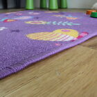 New Purple Butterfly Kids Playmat Girls Fun Non Slip Colourful Bedroom Rug Cheap