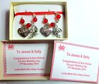 Bride & Groom Lucky Welsh Dragon Wine Glass Charms & other roles available