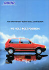 FIAT UNO TURBO ie RETRO A3 POSTER PRINT FROM CLASSIC 80'S ADVERT
