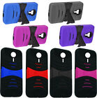 For ZTE N817 Impact Arch Wave Stand Hybrid Hard Cover Case Phone Protector