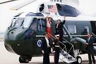 President Ronald Reagan and Nancy board Marine One helicopter 1985 Photo Print