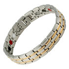 Magnetic Bracelet, Germanium, Far Infrared Ray, Negative Ion 2 Tone Stripes
