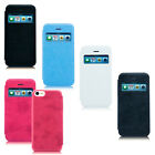For iPhone 5c Flip Leather Hybrid Wallet Pouch Case Hard Cover Screen Protector
