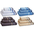 Catherine Lansfield Home Garrat Stripe Cotton 6 Piece Bath Towel Set
