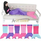 Girls Adult Mermaid Tail Soft Fleece Blanket Bed snuggle-in Sleeping Bag Cocoon