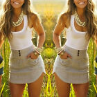 New Women Summer Casual Sleeveless Party Evening Cocktail Short Mini Dress Sexy