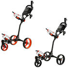 MD GOLF TURFGLIDER COMPACT 3 WHEEL PUSH TROLLEY - NEW PREMIUM CART BUGGY 2016
