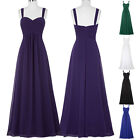 Long Maxi Chiffon Bridesmaid Prom Ball Gown Formal Evening Party Dress PLUS SIZE